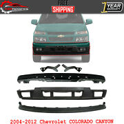 Front Bumper Primed + Extension + Valance + Brackets For 2004-12 Colorado Canyon