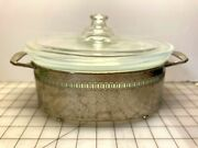 Fry Casserole With Clear Pyrex Lid And Metal Carrier