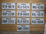 Alabama Lot Of 10 Expired Texas License Plate Auto Tags Ktr 9074 Flat