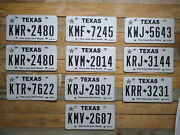 Alabama Lot Of 10 Expired Texas License Plate Auto Tags Kwr 2480 Flat