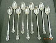 Lot 9 Easterling American Classic Sterling Silver .925 Ice Tea Spoon 7 1/2