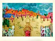 Eliezer Weishoff-lion Gate-limited Edition Serigraph/paper/hand Signed/loa