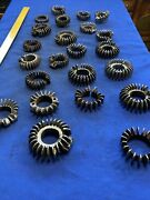 Vintage Motorcycle Exhaust Muffler Finned Joint Cooler Ring Nut Flange Clamp Lot