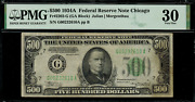 1934a 500 - Federal Reserve Note Chicago - Fr-2202-g - Graded Pmg 30