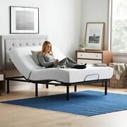Electric Bed Frame Adjustable Base And 12 Mattress Remote Medical Queen Size