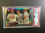 Mike Trout 2012 Topps Chrome 144 Refractor Psa 9 Mint 1st Topps Chrome Card