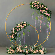 Props Metal Circle Backdrop Decor Arch Wrought Iron Shelf Round Flower Stand