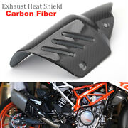 Motorcycle Exhaust Pipe Insulation Heat Shield Carbon Fiber Cover Protector Trim
