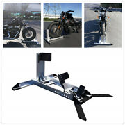 Motorcycle Stand Wheel Chock Trailer Aluminum - Adjustable Upright 3000 Lbs