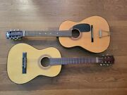 2 Vintage Acoustic Guitars, Conquerer And Unknown, One With Soft Case