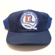 Vintage Swingster Roadway Usa Trucker Hat Mesh Snap Back Trucking Patch Hick