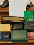 Vintage Watch Boxes Rolex Hamilton Bulova Others Rolex Book And Booklets