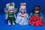 Tinker Bell Cinderella Snow White 5 Christmas Doll Set Precious Moments Le 100