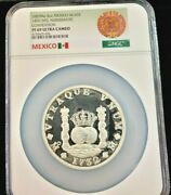 1987 Mexico Silver 5 Onza 14th Intl Numismatic Convention Ngc Pf 69 Ultra Cameo