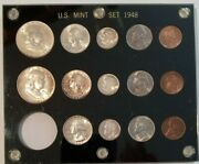 Coins Us 1948 U S Mint Set 6k Minted. In Capital Holder Uncertified Ungraded