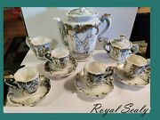 Antique Early 1900's Royal Sealy Of Japan Demitasse Tea Set For Four