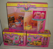 11259 Nrfb Vintage Galoob Secret Places Play Rooms, Kitchen And Laundry Room