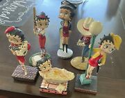 Betty Boop Collectibles 6 Figurines 3andrsquo-7andrsquo Inches Tall