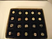 Molson Nhl Stanley Cup Set Of 20 Rings Replica With Original Box Ym A-41