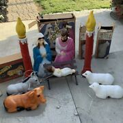 Vintage Blow Mold Empire Christmas Decorations Outdoor With Original Boxes