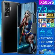X50 Pro 7.2 Inch Smartphone 8gb Ram 256gb Rom Snapdragon 855 Android Cellphone