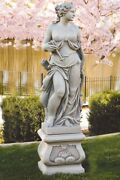 60 Diana The Huntress Outdoor Garden Statue With 20 Fancy Square Pedestal
