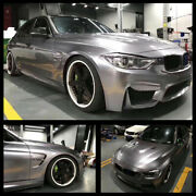 Auto Car Wrapping Gloss Metallic Combat Grey Car Sticker Decals Air Bubble Free