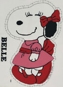 Rare Vintage Peanuts Snoopy's Belle Craft Fabric Panel Cut N Sew Pillow Toy Doll