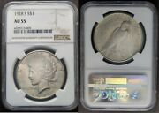 1928 S Peace Dollar S1 Ngc Au 55 Almost Uncirculated Au55 1928-s