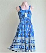 Sale India Boutique Tube Top Dress / Cover Up W/ Abstract Pattern, One Size Nwt