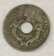 Un085 1938 Indochine Francaise 5 Cent Coin