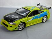 Ertl Fast And Furious Brian Oand039connor Mitsubishi Eclipse 118 Toy Car Paul Walker