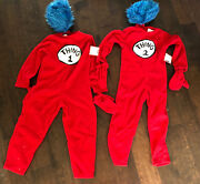 Nwt Pottery Barn Kids Red Thing 1 And 2 Costumes Set Child Size 7-8 Nla