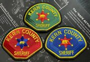 New Kern County Sheriff Office California Uniform Patch Set Of 3 Red Green Blue