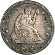 1842-o 25c Small Date Pcgs Vf25 Cac