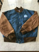 Vintage 1990s Hollywood Park Casino Denim And Leather Jacket In Great Condition