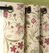 Plow And Hearth Jacobean Thermalogic Grommet-top Valance 40x15 Sage Cream Red C6