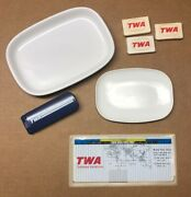 Lot Of Vintage Trans World Airlines Twa Items - Dishes, Soap, Lint Brush