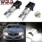 2x 6000k White P13w 12-smd Led Lamps Drl Fog Driving Light Bulbs Projector Lens