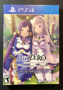 Rezero Starting Life In Another World The Prophecy Of The Throne Collector's Ps4