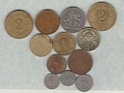 12 Coins From Iceland 1940 To 2005 In Very Fine Or Better Condition .