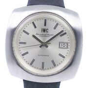 Old Inter Watches Stainless Steel/leather 自動巻き Mens Silverdial