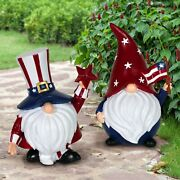 Fairy Garden S/2 4th Of July Patriotic Gnomes - Buy 3 Save 5