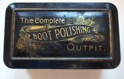 Cash Boot Co Outfit Polish Varnish 1880s Tin Vintage Retro Antique Advertising