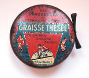 Graisse Thesee Shoe Boot Polish Varnish French 1930s Tin Vintage Advertising