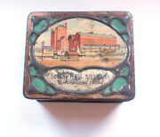 Carr And Co Silloth Factory Biscuits Sample Tin 1906 Vintage Retro Food