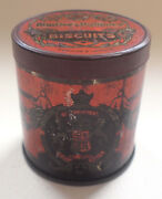 Huntley And Palmer Miniature Sample Biscuit Tin Advertising 1930s Vintage Retro