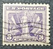 Us Scott 537 Victory Issue .03 Cents 1919 Used.