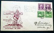 1933 1st Flight Air Mail Cover - From Meridian Miss. W/scott Pairs 604/721.
