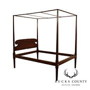 Custom Quality Antique Reproduction Pine Full Size Canopy Poster Bed